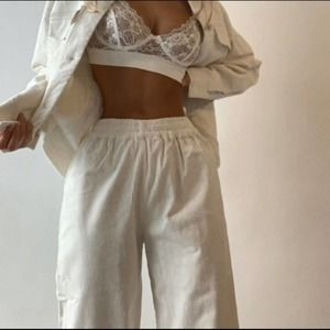 Joggers Linen Sporty Chic Girly BAE NWT Small